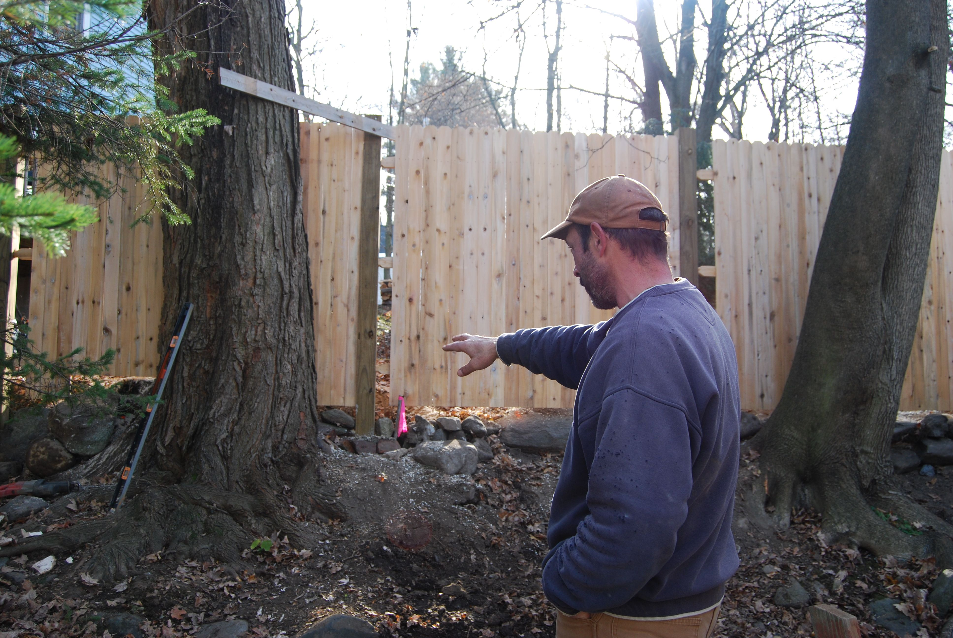 Scribing Fence Around Trees Employees At Work In 2019