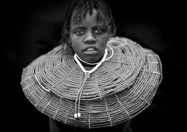 Pokot girl with giant necklace - Kenya by Eric Lafforgue, via Flickr