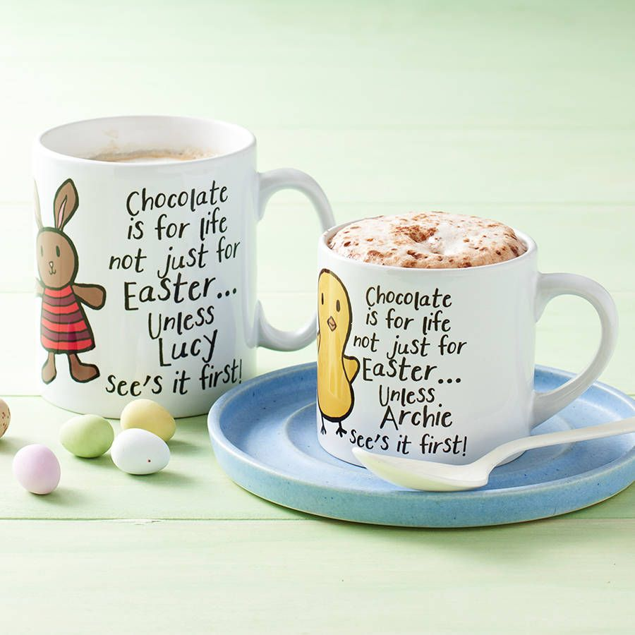 Personalised easter character mug easter and gift personalised easter character mug negle Gallery