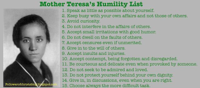 Mother Teresa Humility Quotes Humility Mother Teresa Quotes