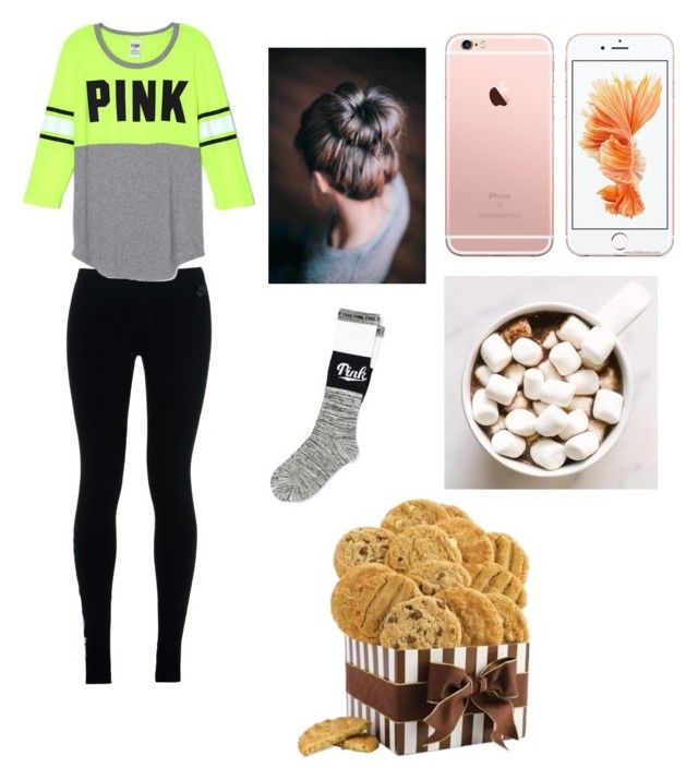 """Movie night"" by imaray98 ❤ liked on Polyvore featuring NIKE, Victoria's Secret, women's clothing, women's fashion, women, female, woman, misses and juniors"