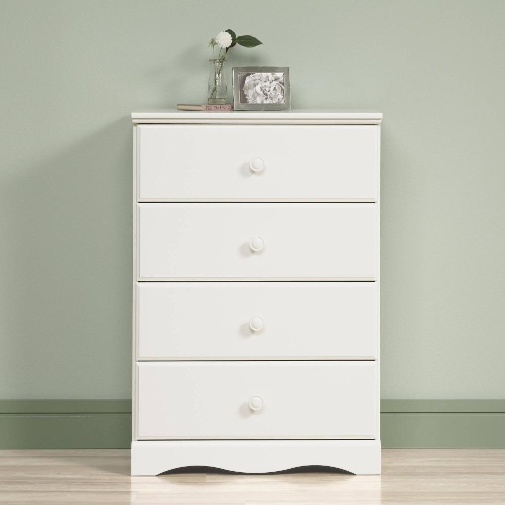 Sauder Storybook 4 Drawer Dresser Soft White Walmart Com White Dresser Bedroom Storage White Bedroom Furniture