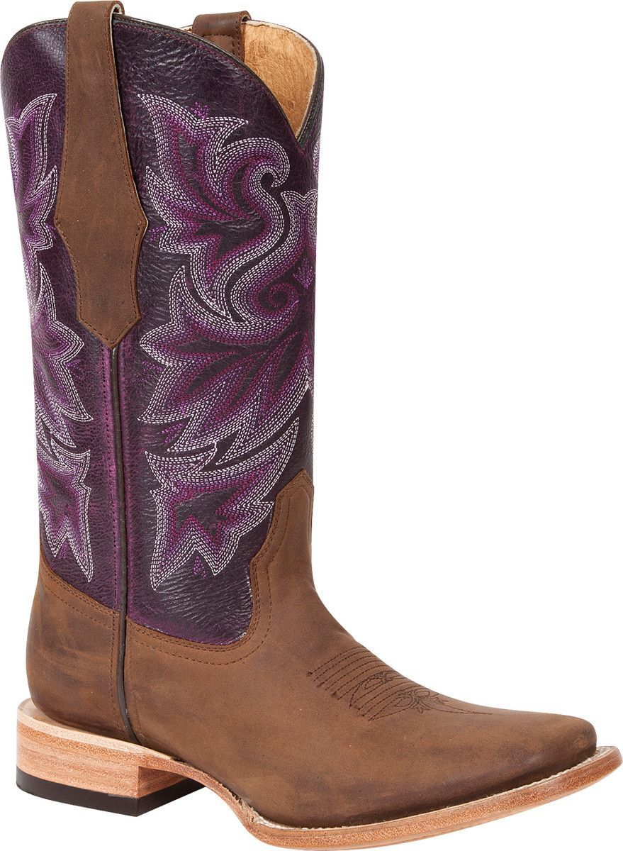 Durango Ole \'66 Womens Purple Leather Western Stitch Cowboy Boots ...