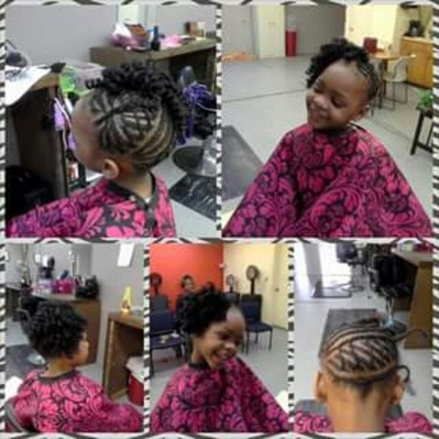 African American Kids protective crochet braid style.