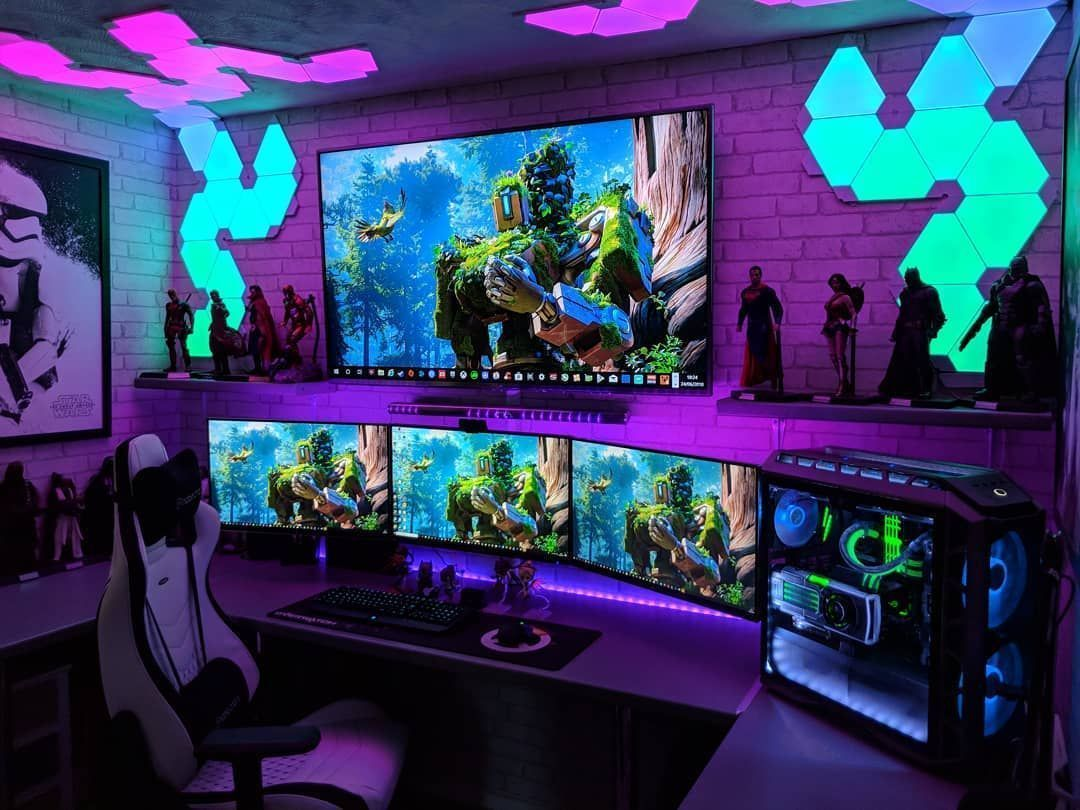 Video Game Room Ideas Find Your Dream Room Here Creative Home Design Gaming Room Setup Video Game Rooms Room Setup