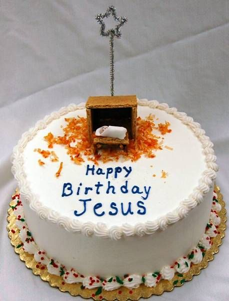 Outstanding Birthday Cake For Jesus Natal Kerstmis Kerst Personalised Birthday Cards Veneteletsinfo
