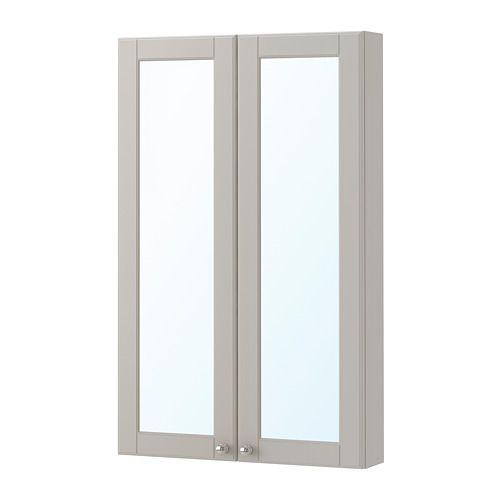Ikea Godmorgon Mirror Cabinet With 2 Doors Kasjon Light Gray Ikea Bathroom Lighting Diy Bathroom Remodel Bathroom Wallpaper Contemporary