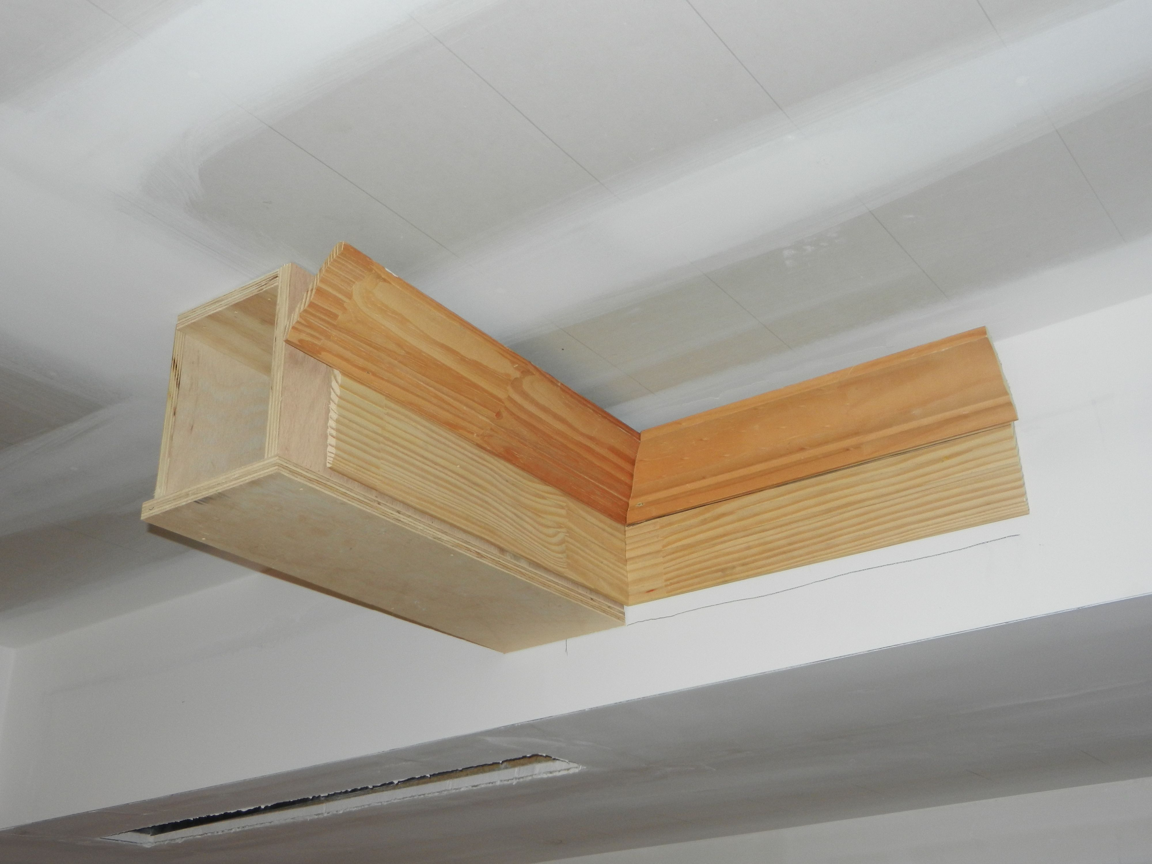 Coffered Ceiling Rope Lighting