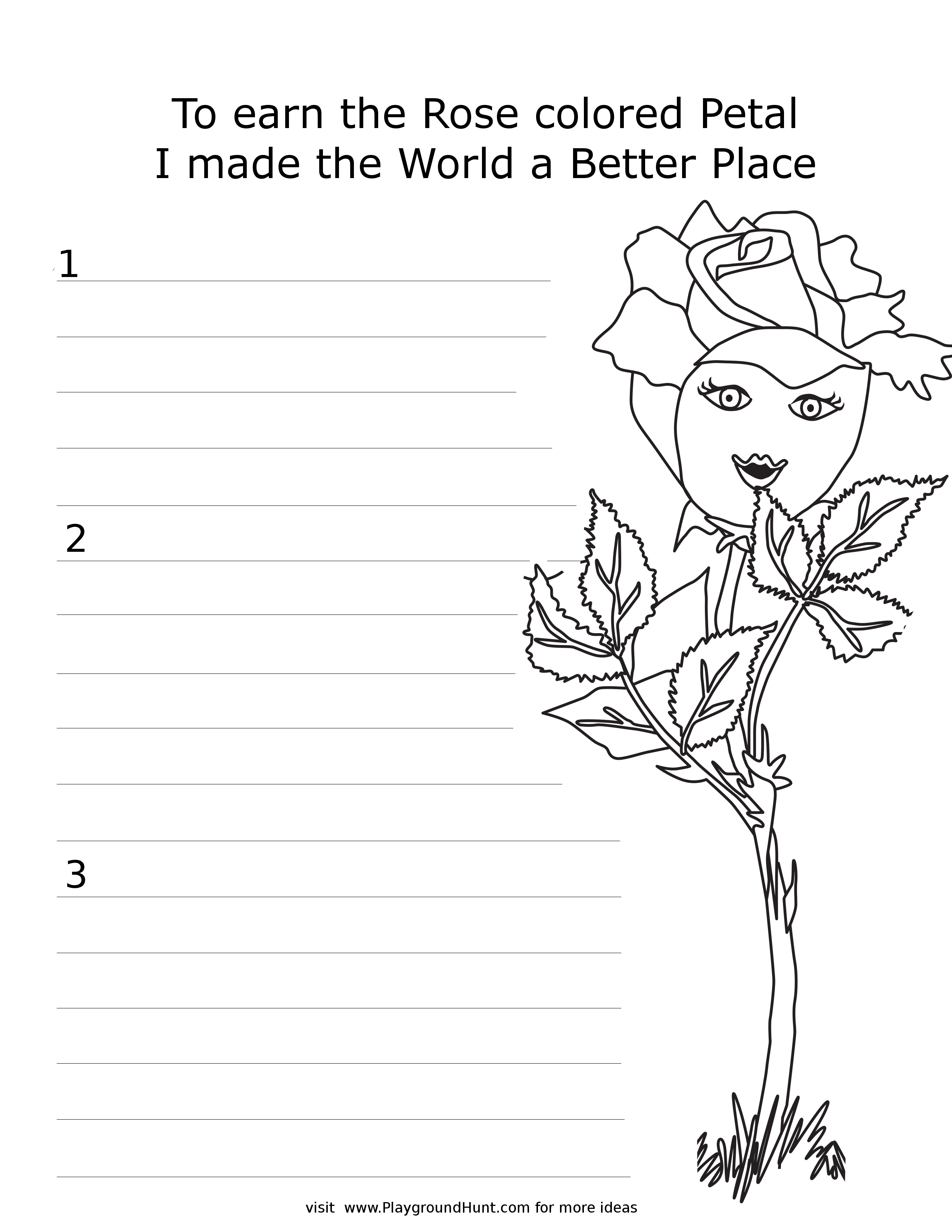 Daisy Petal Worksheets