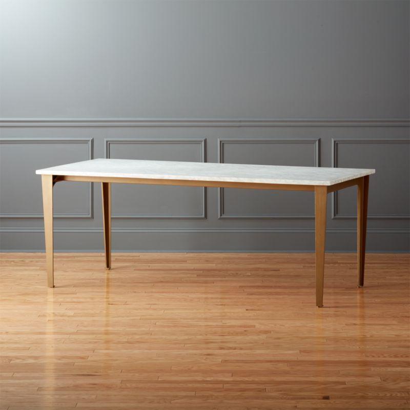 Paradigm 80 Carrara Marble Dining Table Reviews Dining Table