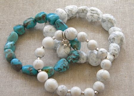 Faux Stone Bracelets from Salt Dough #saltdoughrecipe