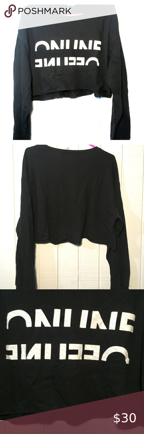 Kill the Long sleeve crop top. New! in 2020