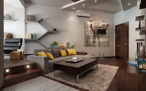 Three Apartments With Extra Special Lighting Schemes Living Room