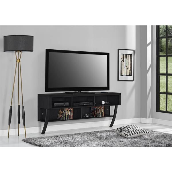 Altra Black Oak Wall Mounted 60 Inch Tv Stand Overstock Com
