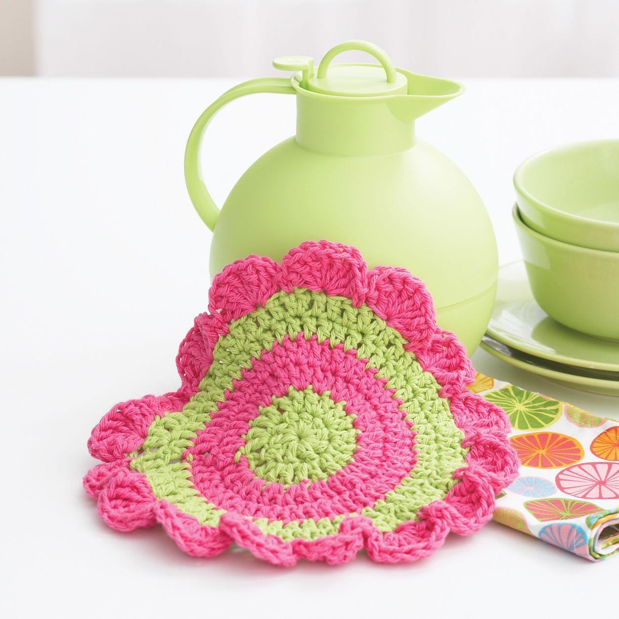 Bernat Daisy Wheel Dishcloth Make sunflower: two center ...