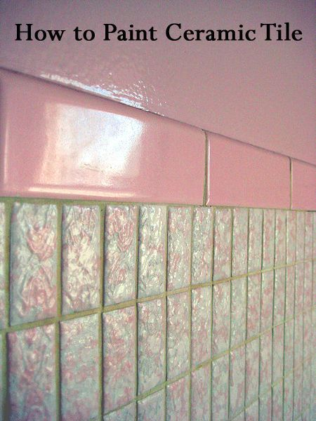 How to Paint Ceramic Tile | Painting bathroom tiles ...