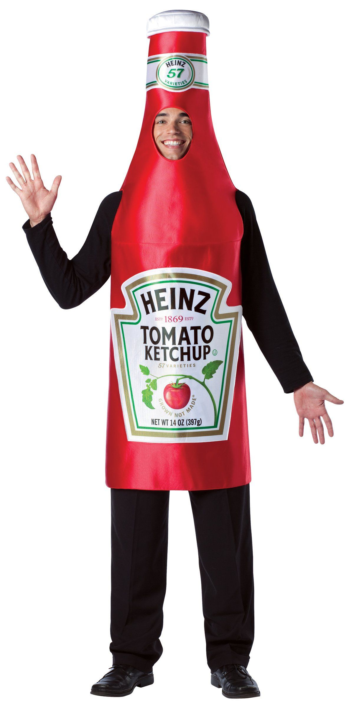Heinz Classic Ketchup Bottle Adult Costume from BuyCostumes.com