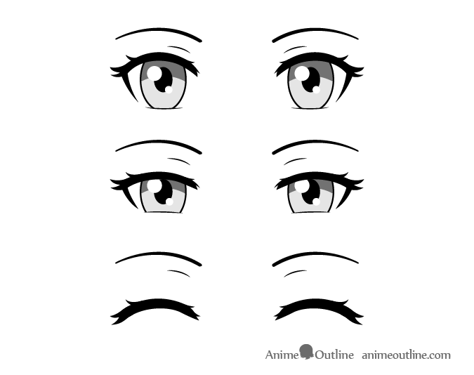 How To Draw Closed Closing Squinted Anime Eyes Animeoutline How To Draw Anime Eyes Anime Closed Eyes Closed Eye Drawing