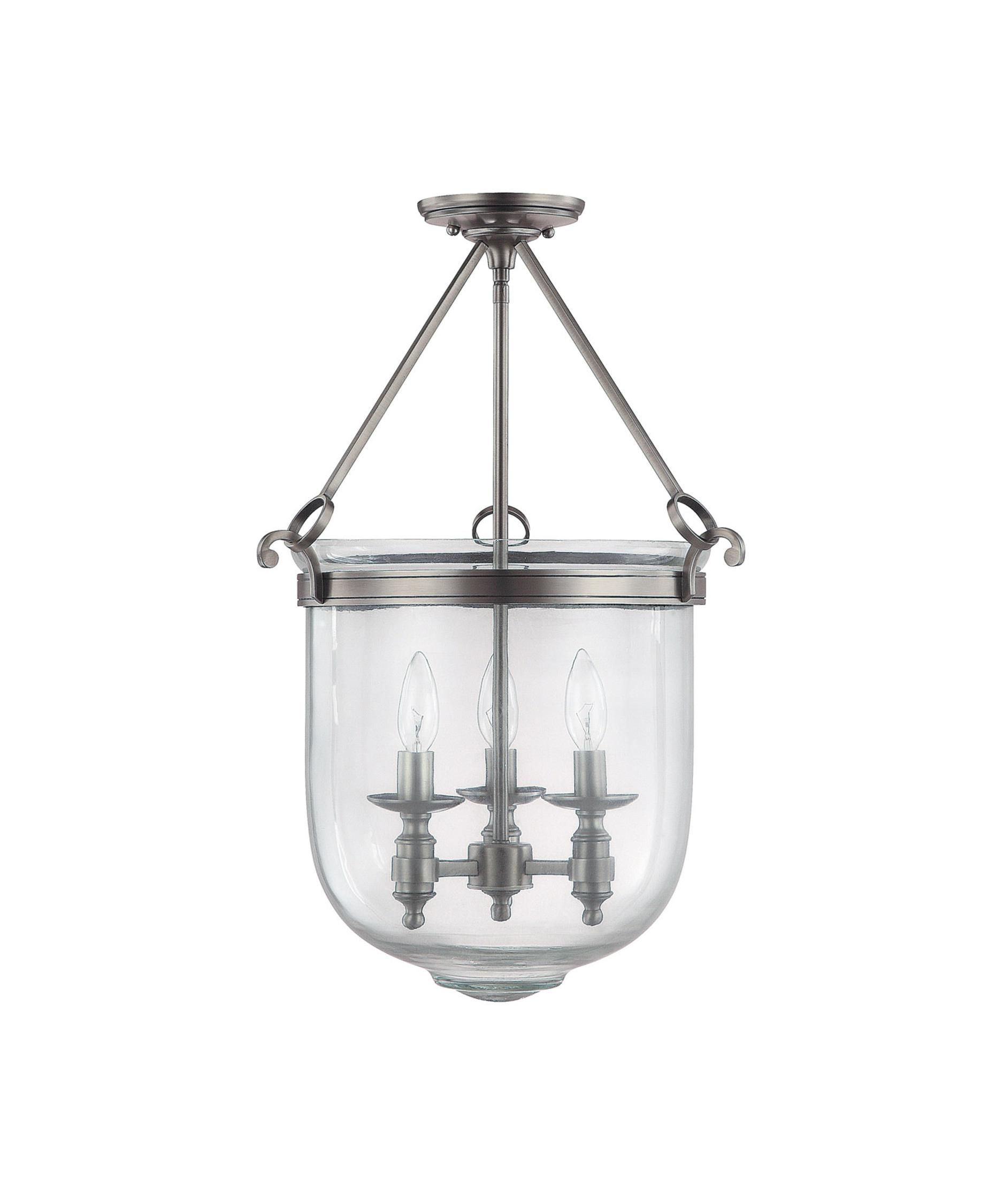 nickel pendant in lantern light polished leon