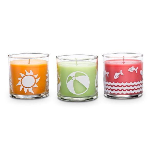 Beach Fun Pienet Kynttilapurkit Trio Party Lite Candles Mini Jars Candles Online