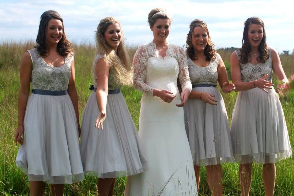 Beautiful wedding & bridesmaids hair styles by Karen's beautiful Brides, covering Suffolk, Norfolk, Essex and into Cambridgeshire
