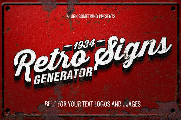 Check out Retro Signs Generator by DesignSomething on Creative