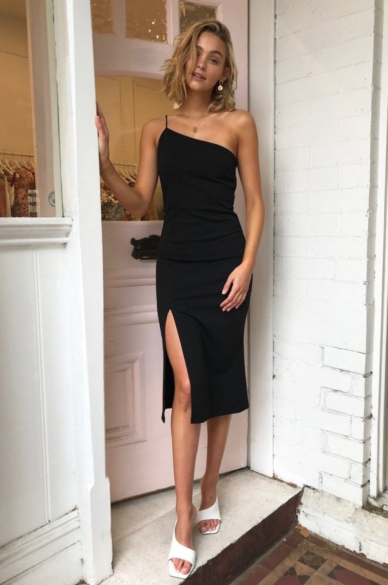 4 Myths About Maternity Wear Exposed Midi Dress Fall Black Dress Outfits Dresses [ 1157 x 768 Pixel ]