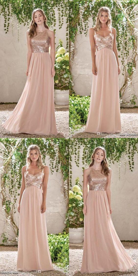 42+ Blush pink bridesmaid dresses long trends
