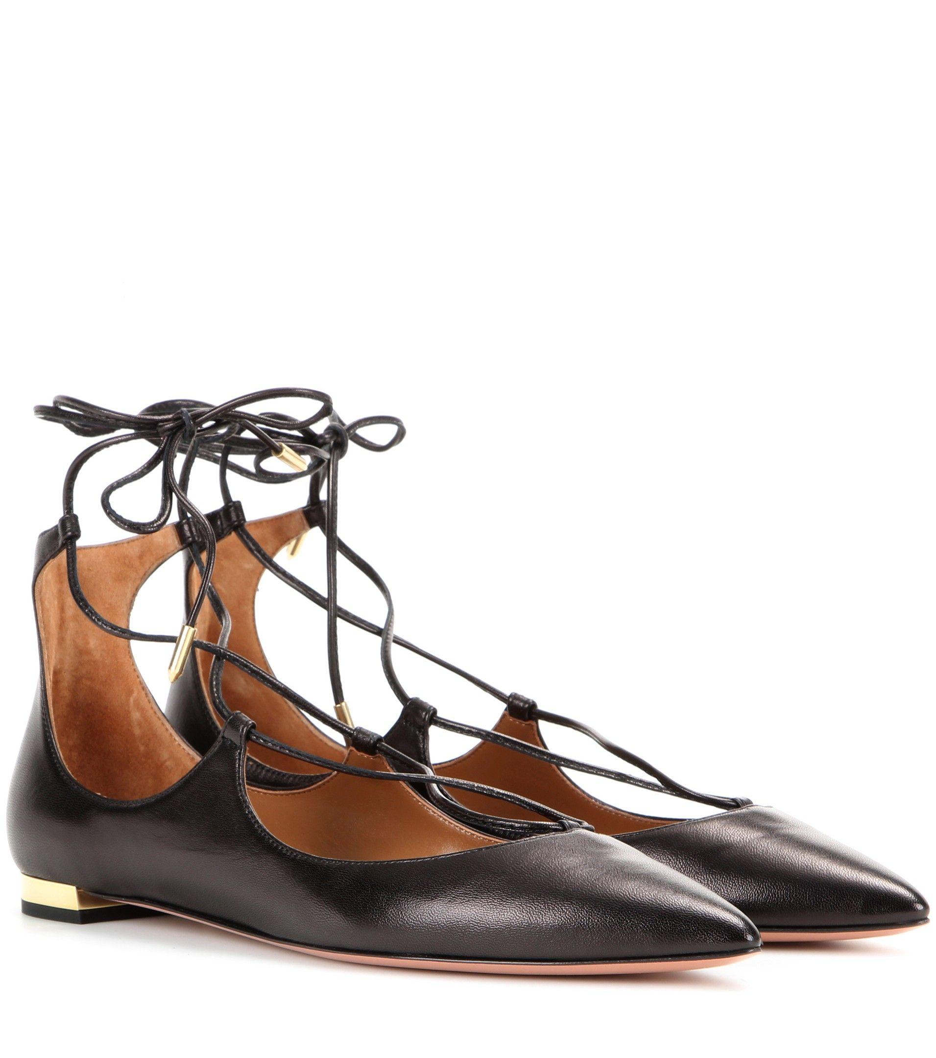 Leather CHRISTY FLAT Ballet Flat Spring/summer Aquazzura iTdFFS
