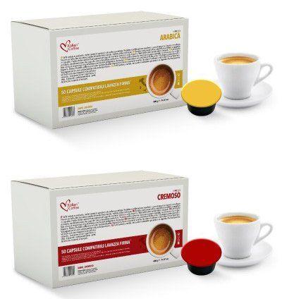 Italian Coffee capsules compatible with RIVO machines (Arabica/Cremoso, 100)