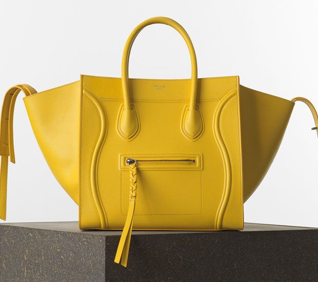 7634ffdea7ac Celine Medium Luggage Phantom Bag in Nubuck Calfskin Color  Yellow Size   12′ x 11′ x 9′ in inches Price  €1900 euro s Celine Medium Luggage Phantom  Bag in ...