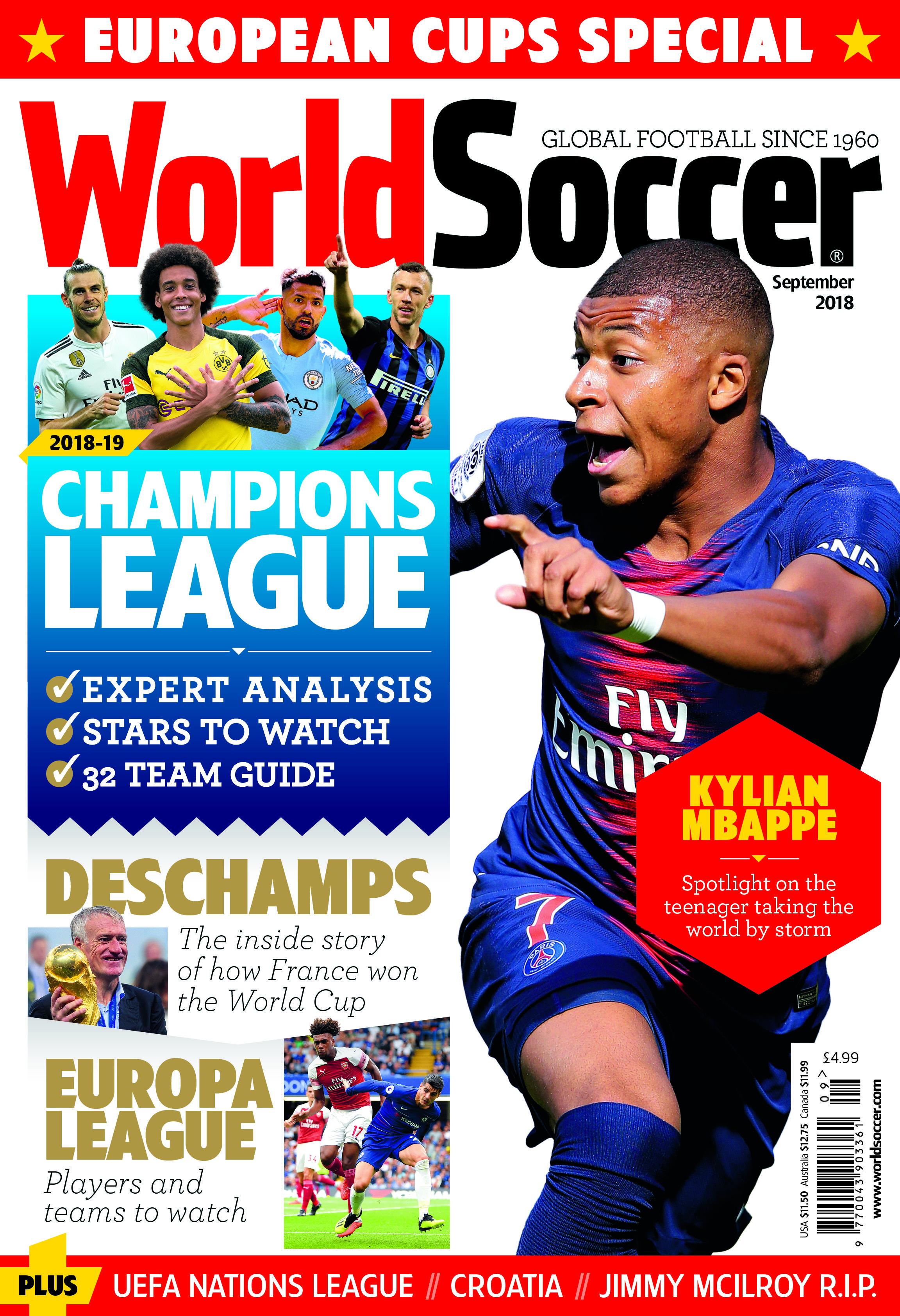 World Soccer (Septiembre de 2018) Champions league
