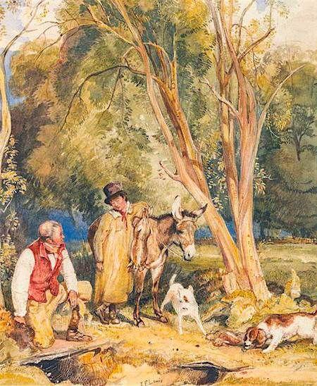 Regency Servants Gamekeepers English Artists Art Fine Art