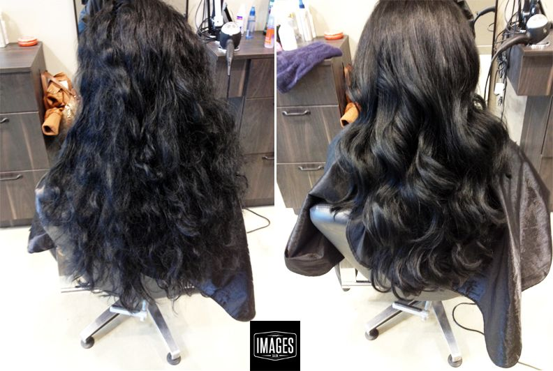 Before and after shots of body waves by our girl, Katryna -- hair that's oh-so-touchable!
