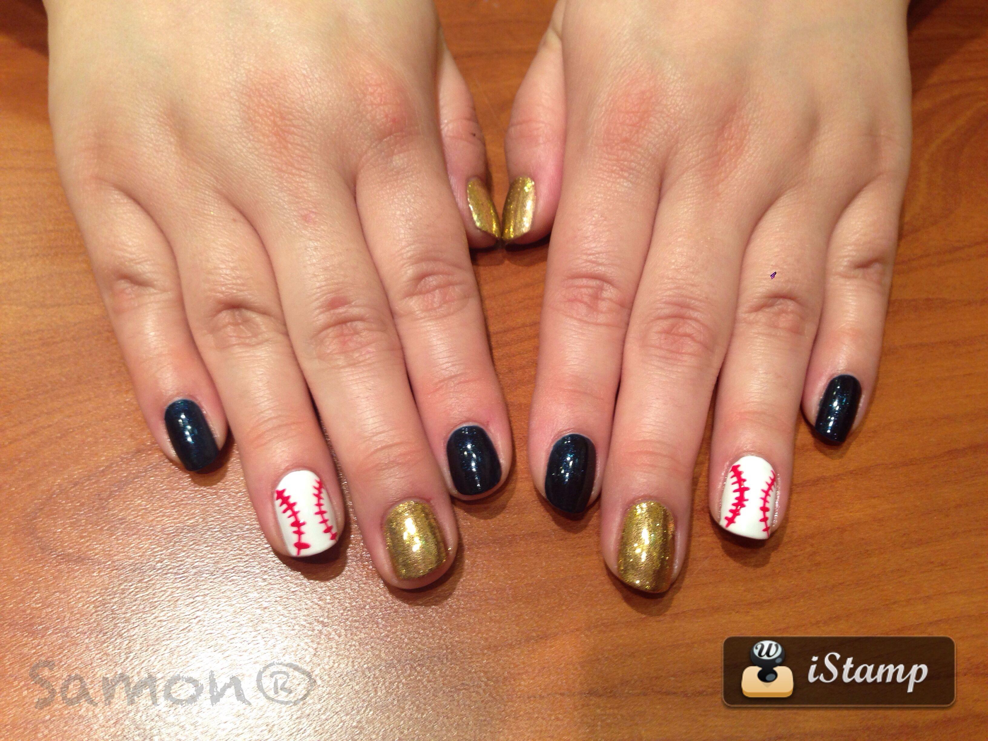 Brewers nail art by samon   Hair & Nails by Samon   Pinterest   Nail ...