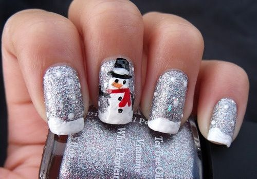 Great for Xmas!! Snowman nails!