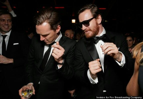 I died <3 Benedict Cumberbatch & Michael Fassbender 71stAnnual Golden Globes after-party