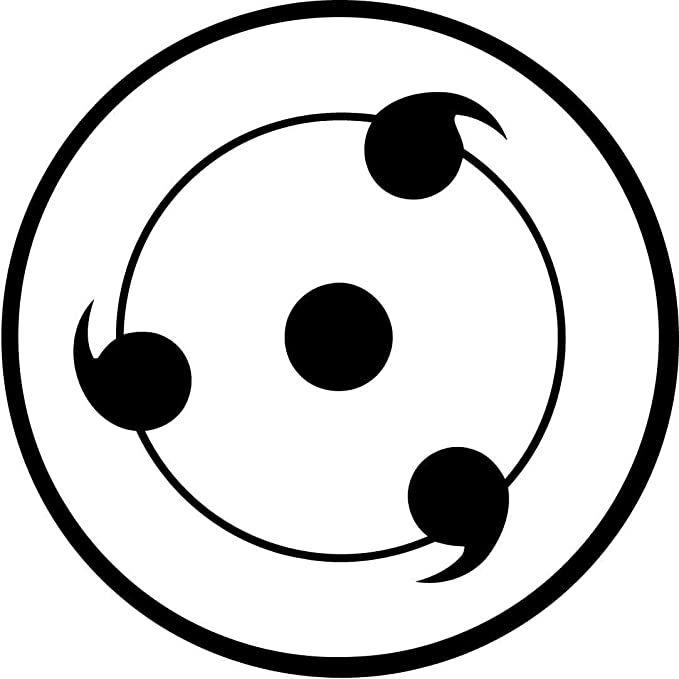 Amazon.com: NARUTO ANIME Sharinggan, Vinilo Adhesivo Decorativo De 5.5 In  Para Coches, Tabletas, Ordenadores Portátiles, Monopatín, Color Negro:  Computers & Accessories - Coloring Home Pages