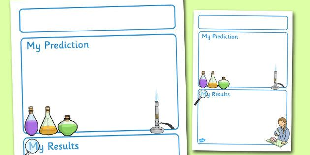 Science Experiment Recording Sheet EY KS1 – Science Experiment Worksheet