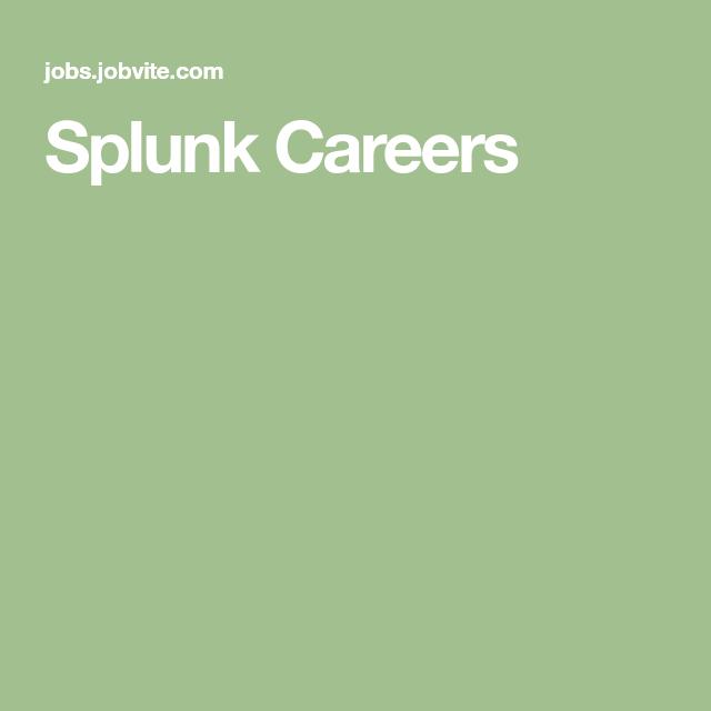 Splunk Careers Science Student Field Marketing Business Analyst
