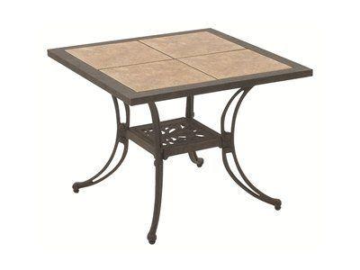 Suncoast Ceramic Tile Patio Cast Aluminum 28 Square End Table By 348 60 Tables