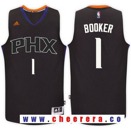 Men s Phoenix Suns  1 Devin Booker Black Stitched NBA adidas Revolution 30  Swingman Jersey cf870094c