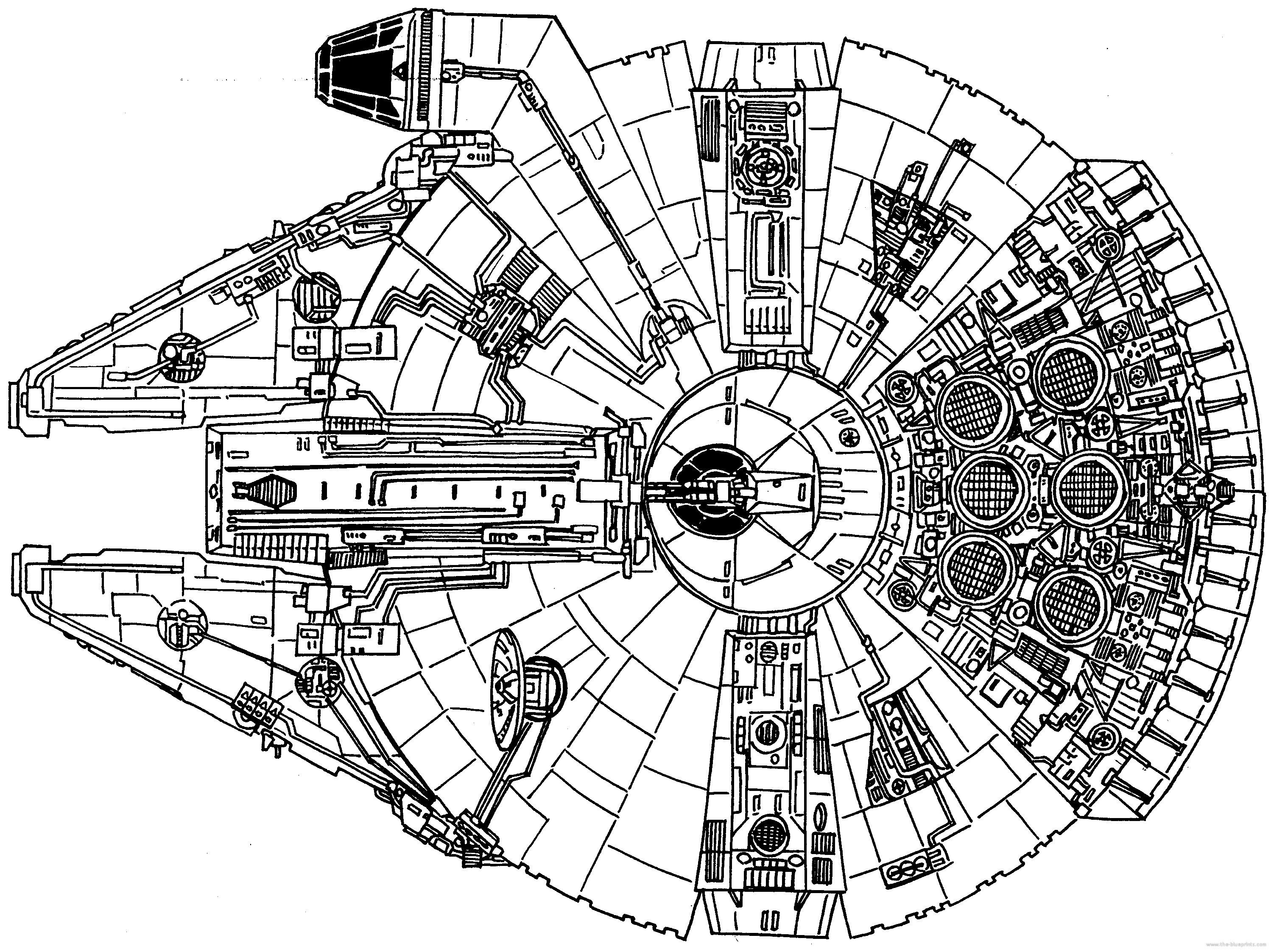 Excellent Picture Of Falcon Coloring Pages Davemelillo Com Millennium Falcon Millennium Falcon Blueprint Star Wars Ships