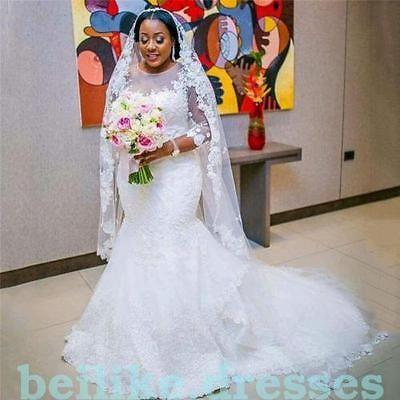Sexy Mermaid Wedding Dress White/Ivory Bridal Ball Gown Custom Plus Size 2-28 https://t.co/Ht2jAy2Ln4 https://t.co/P0Iiq5ZJqu