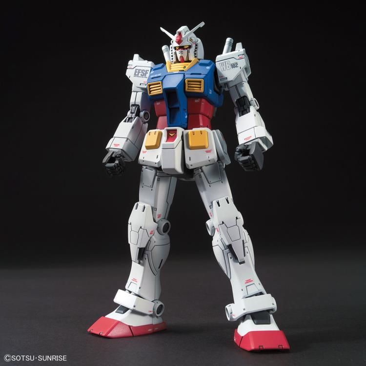 Bandai Spirit: Gundam: The Origin - HG 1/144 Gundam RX-78-2 Model Kit #26 To celebrate the 40th anniversary of Gunpla, the RX-78-02 Gundam joins the High Grade model kit series based on its appearance in Mobile Suit Gundam: The Origin! Featuring updated injection molding techniques, this Gundam kit comes with interchangeable parts to recreate the Early or Middle Types of the RX-78-02 as it makes its journey during the One Year War. The Early Type features a two shoulder magnums, vulcan guns on i