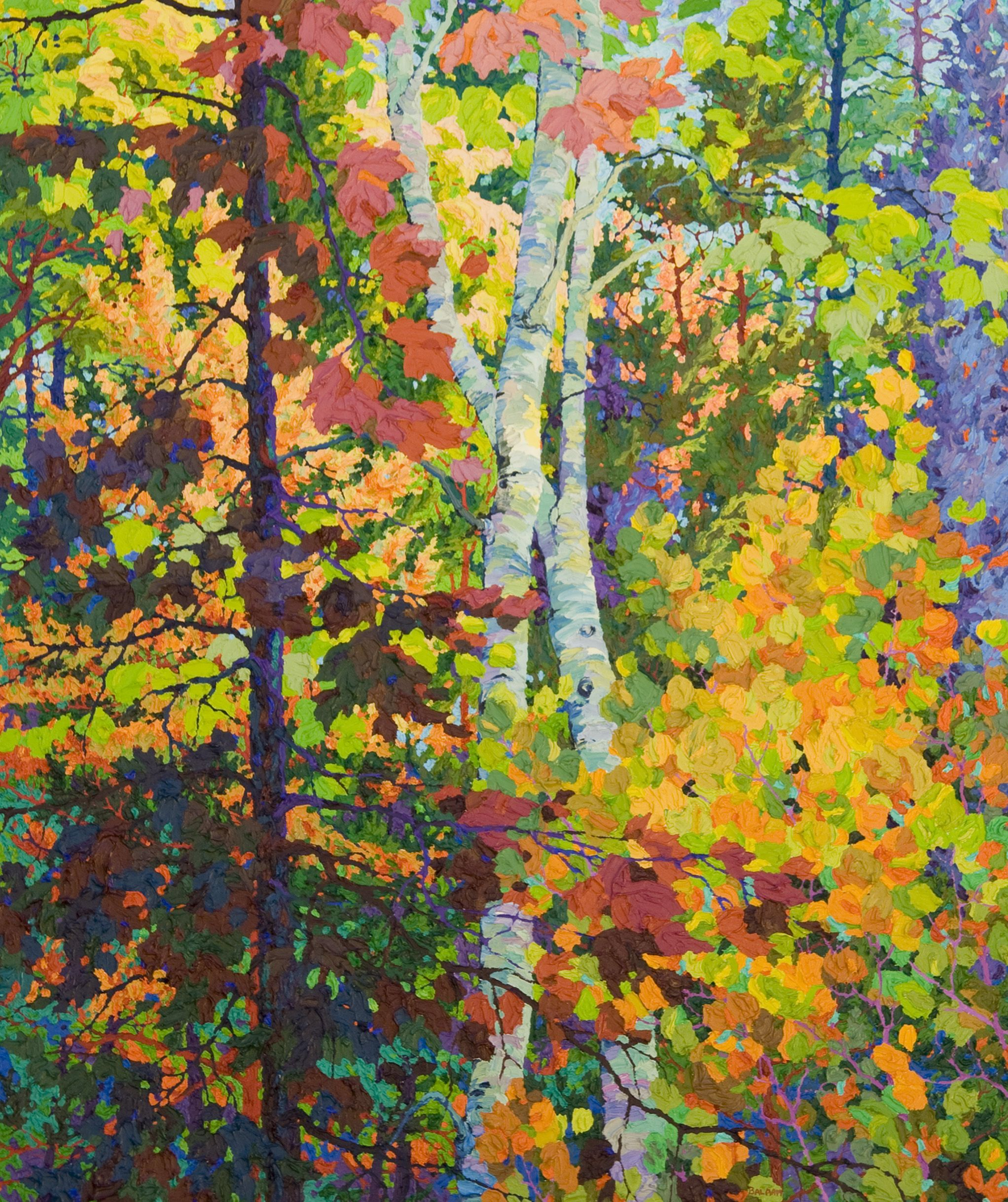 A Posteval Forest, oil on canvas by Frank Balaam at a Scottsdale art gallery