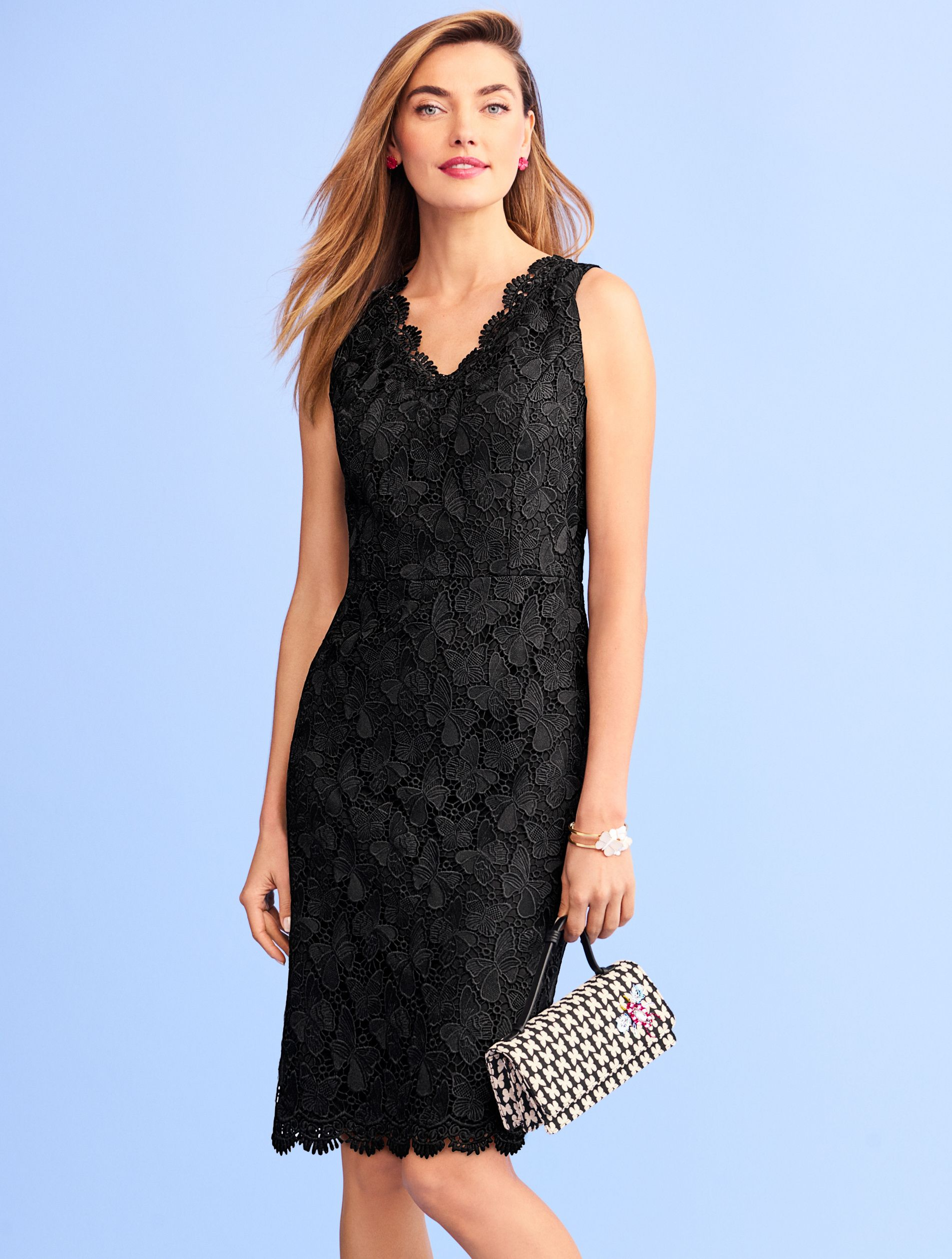5497af79b55bb1 The updated LBD is graced with butterfly lace and scallop detail along the  neck and hem for showstopping elegance. The form-flattering silhouette  epitomizes ...