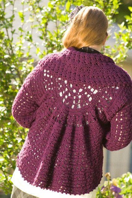 Pattern Pdf For Crochet Circle Bolero Cardigan Shrug Sweater With