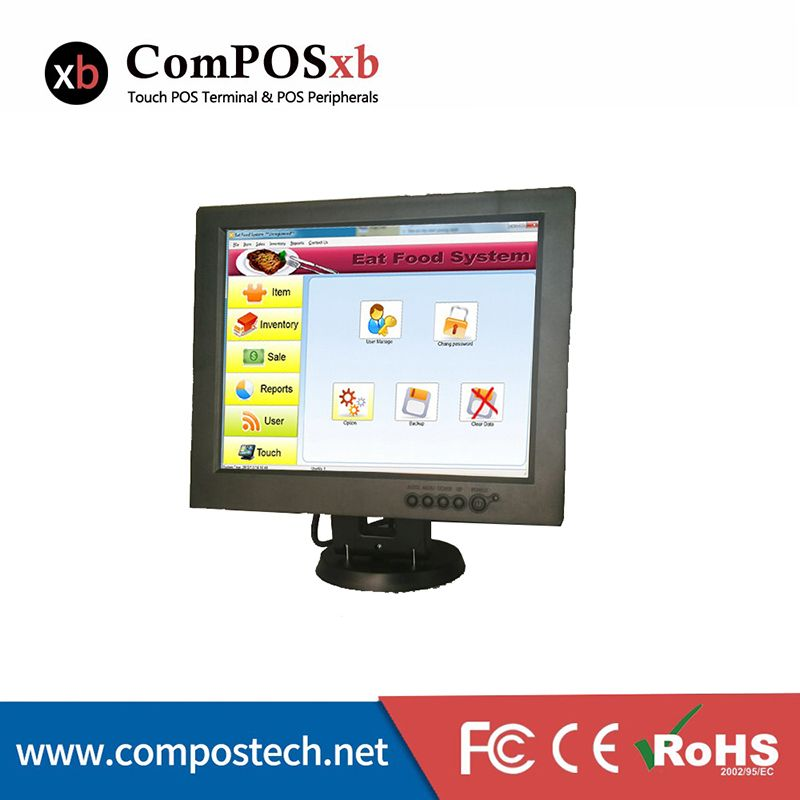 Free Shipping 12 Inch Touch Screen Resistive Desktop Touch Monitor For Pos Display Computer Peripherals Lcd Monitor Touch Screen