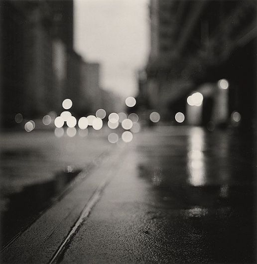 Michael kenna artistic photography morning traffic midtown new york city 2000